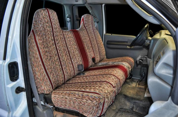 truck with covered seats